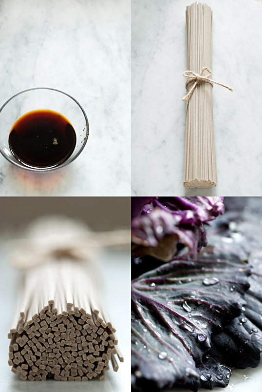 Soba, Soba Sauce & Cabbage
