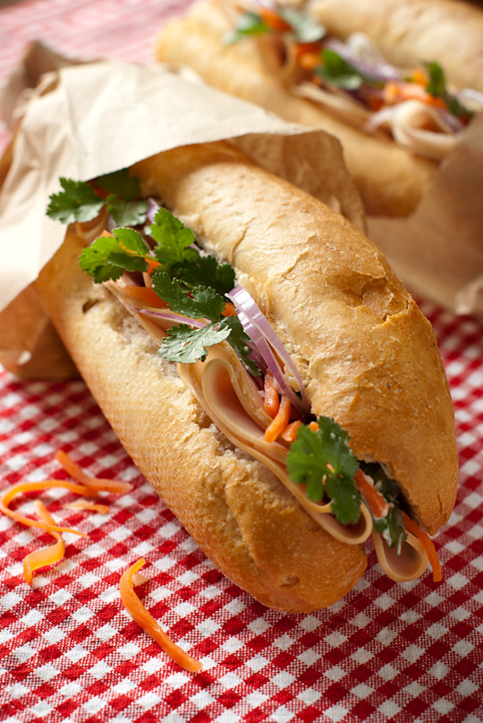 Homemade Banh Mi sandwich