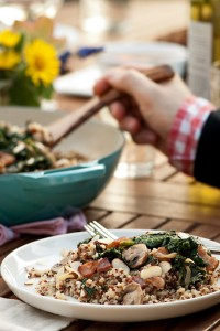 sautéed kale and quinoa salad