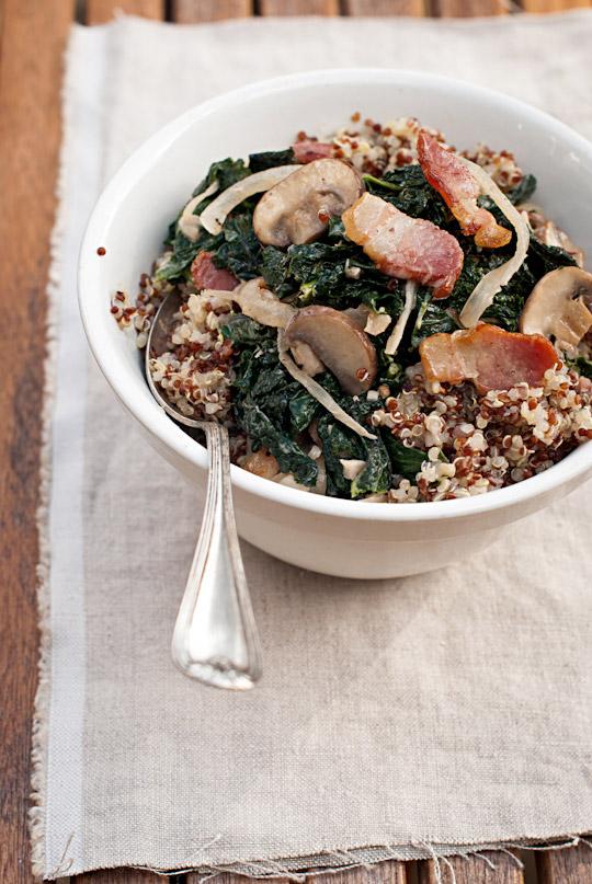 Sautéed kale and quinoa salad