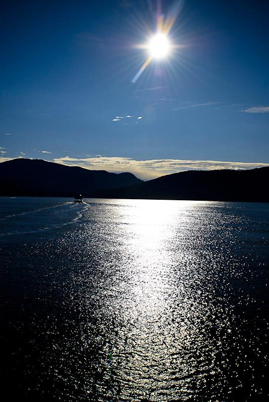 ferry in the sun