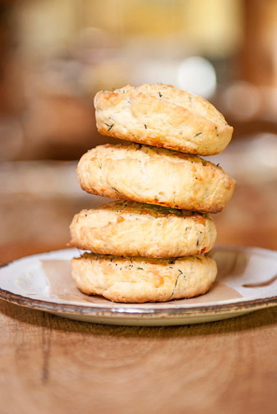 aged chedder dill scones