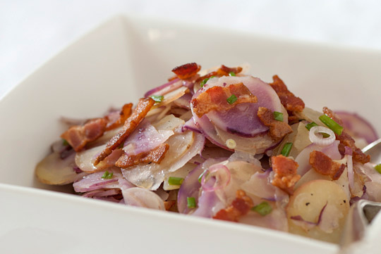 new potatoes and crispy bacon salad