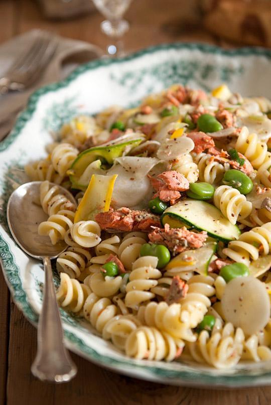 zucchini salmon pasta
