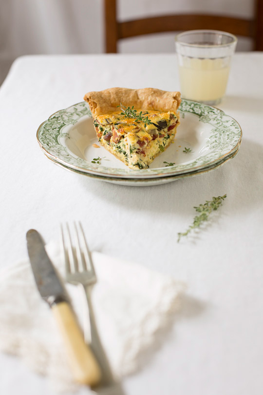 rainbow swiss chard quiche