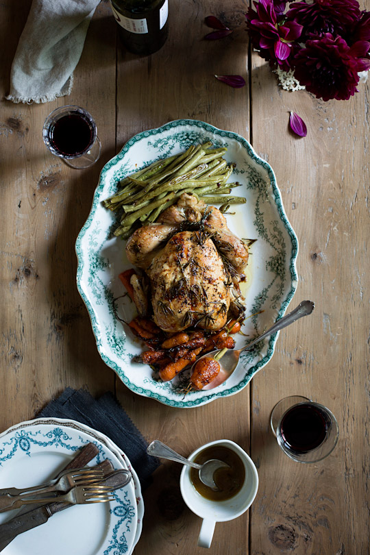 rosemary garlic roast chicken