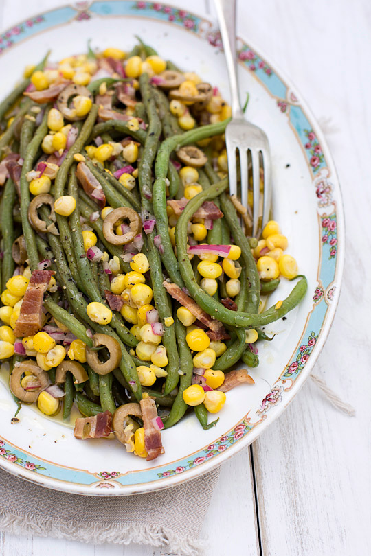 French pole bean salad