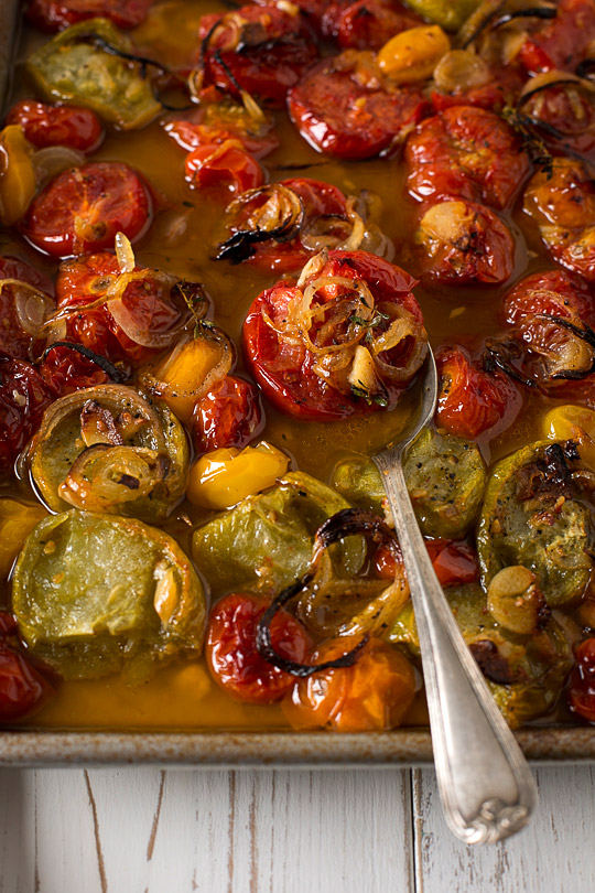 roasted tomatoes, onions and garlic