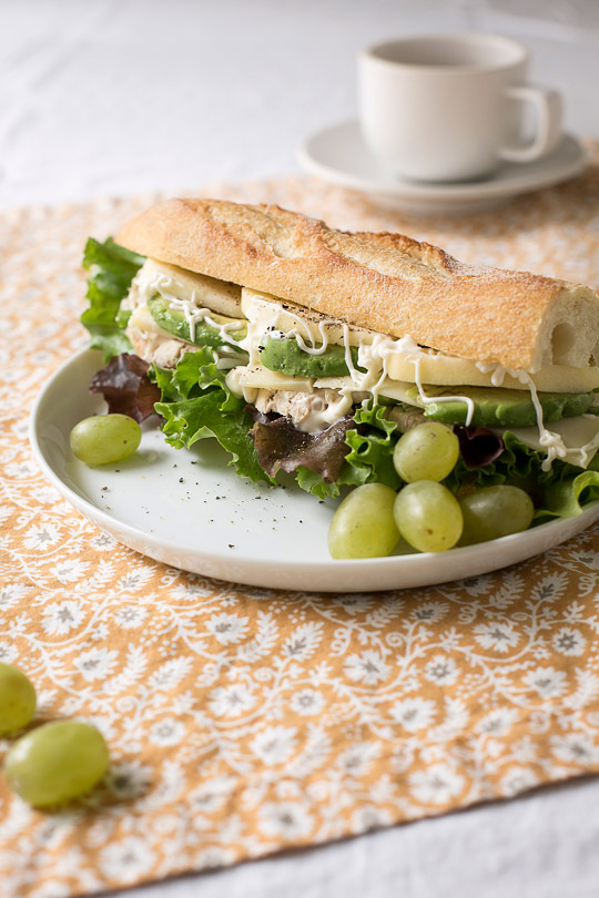 turkey baguette sandwich