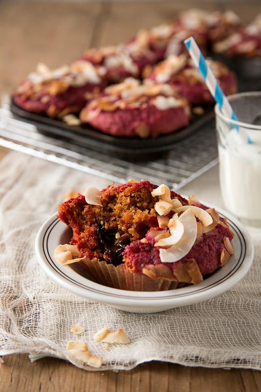 beet & chocolate muffins
