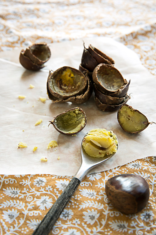 steamed chestnuts