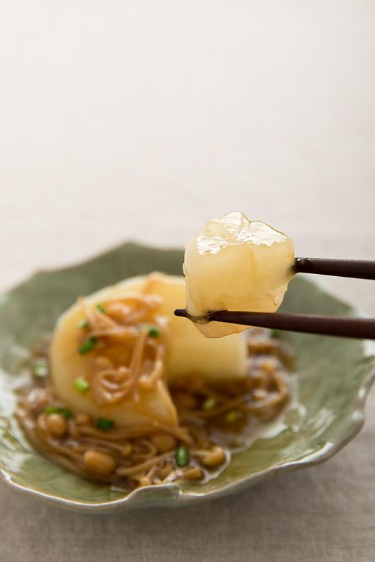 furofuki daikon with Enoki mushroom sauce