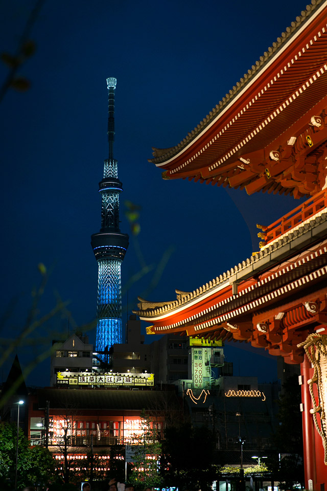 The view of Tokyo Skytree from Senso ji