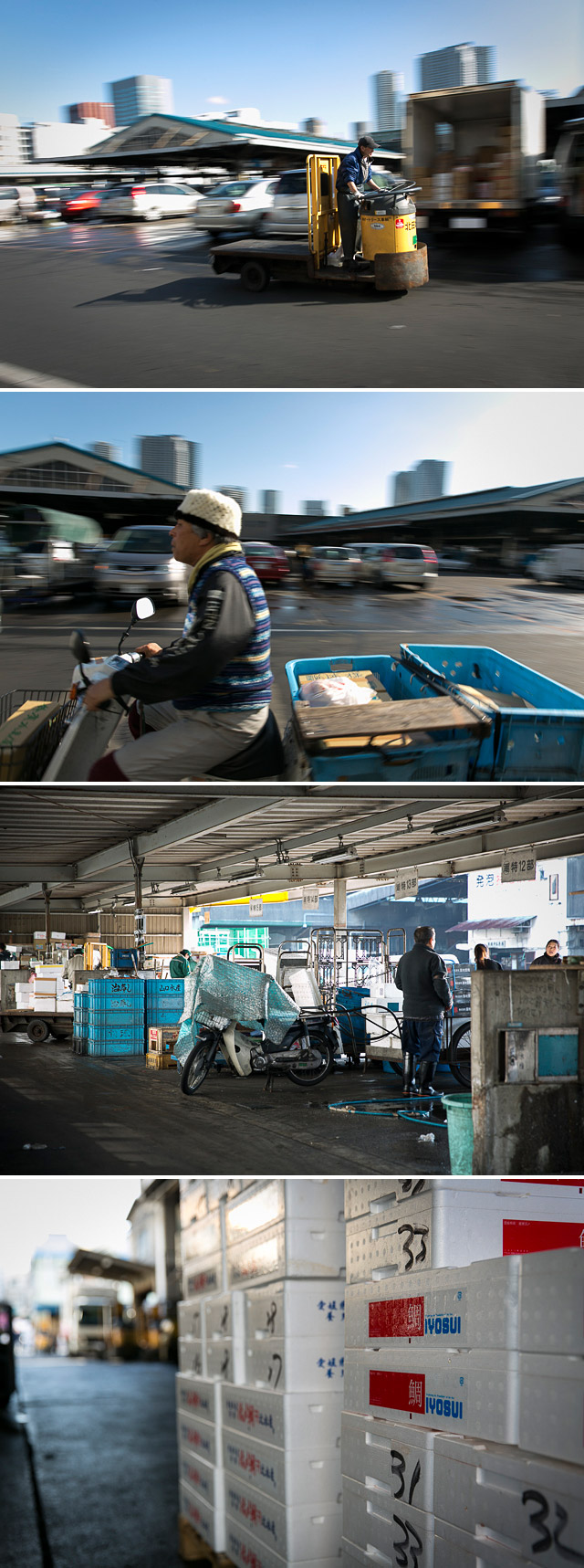 Workers at Tsukiji market