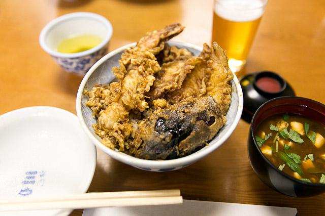 tempura don at Sansada