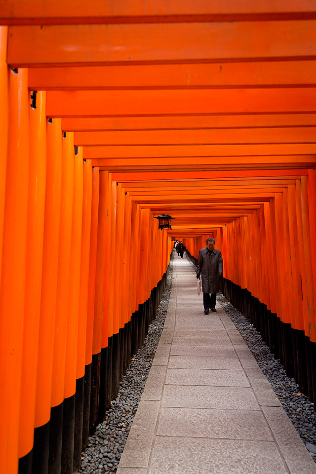 Red gates at Fushimiinari taisha