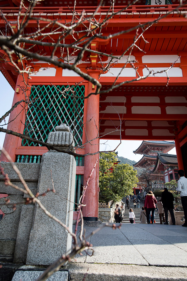Gate at Kiyomizu temple