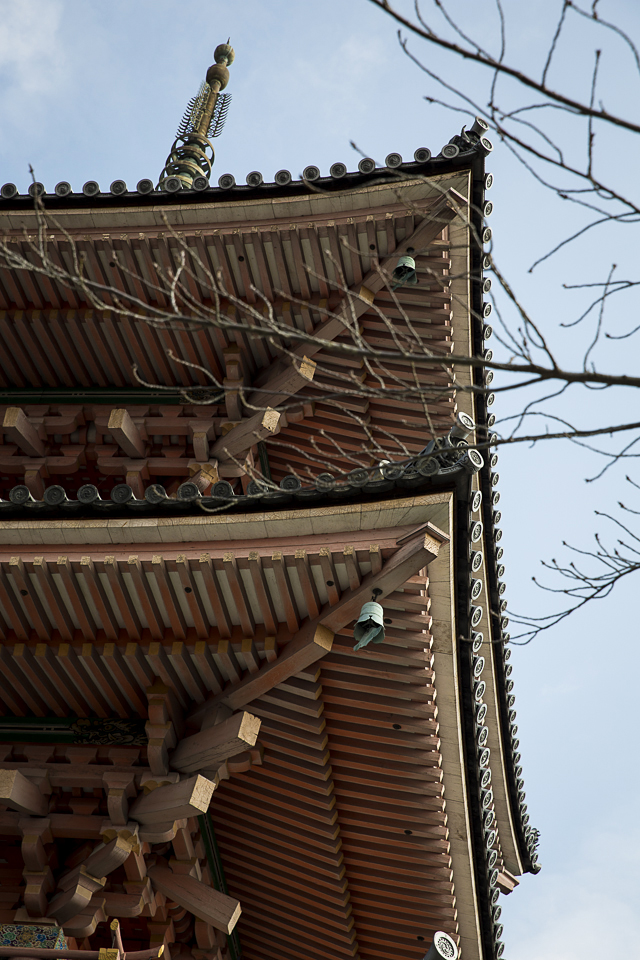 Three story pagoda at Kiyomizu